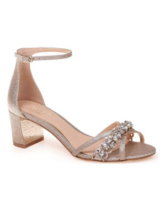 outdoor wedding shoes sparkly crystal-embellished low-heel sandals