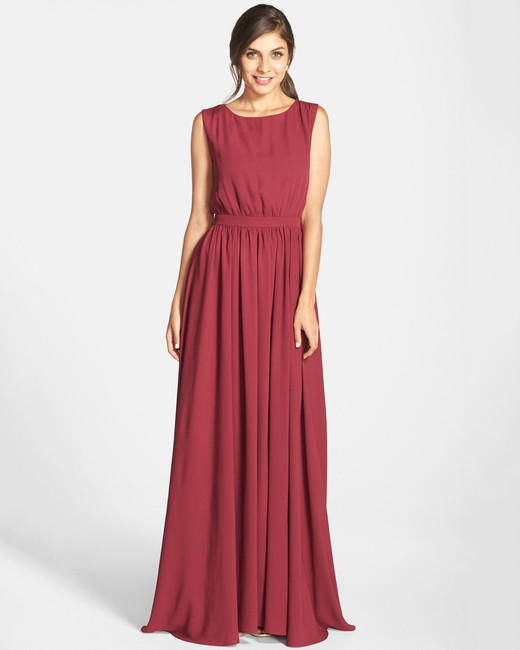 red bridesmaid dress paper crown lc tori