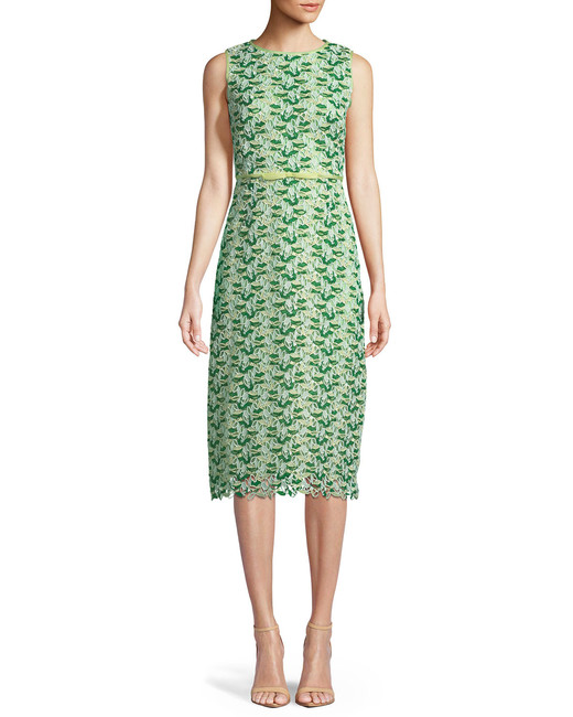 Giambattista Valli Sleeveless Floral Embroidered Sheath Dress