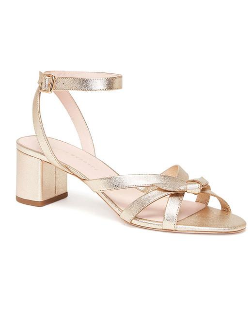 metallic mid-heel sandals