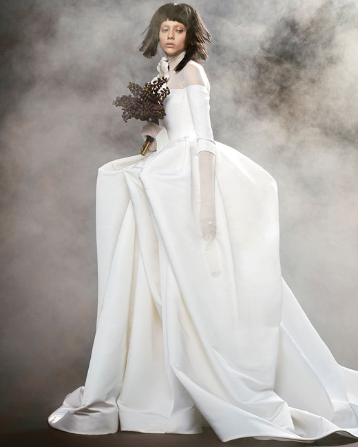 vera wang wedding dress spring 2018 long-sleeve illusion neckline