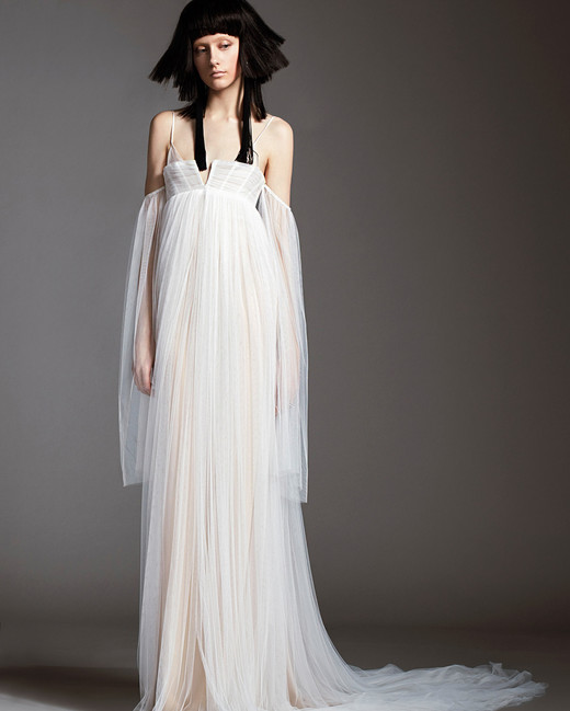 vera wang wedding dress spring 2018 spaghetti strap draped off-the-shoulder