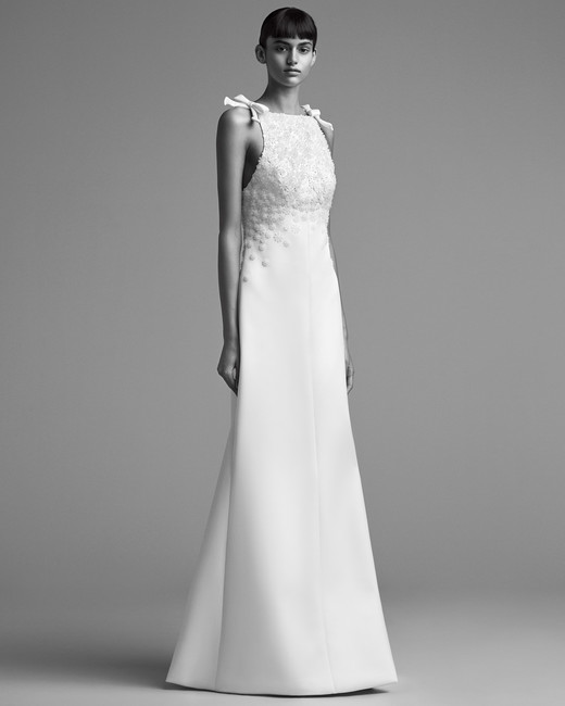 viktor rolf wedding dress fall 2018 slip high neck