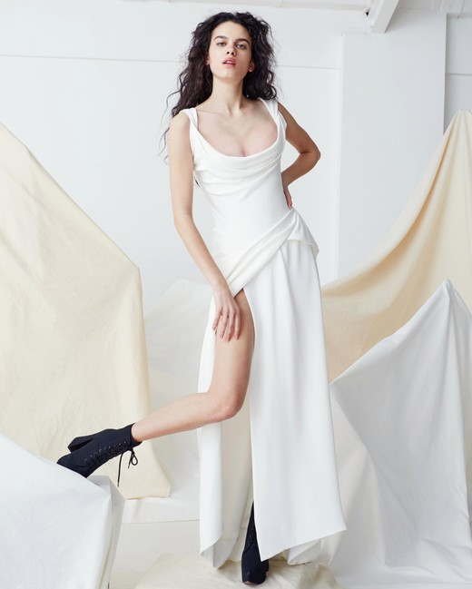 vivienne westwood wedding dress Spring 2019 a-line scoop neck high slit