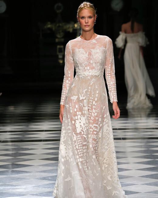 yolancris long sleeves sheer wedding dress spring 2018