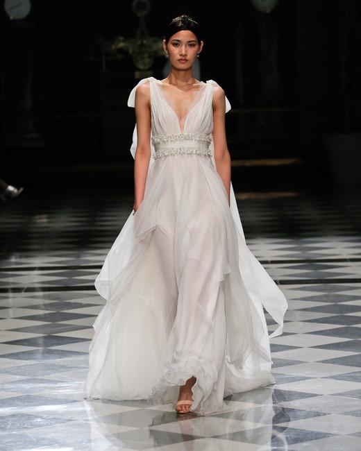 yolancris v-neck flowy wedding dress spring 2018