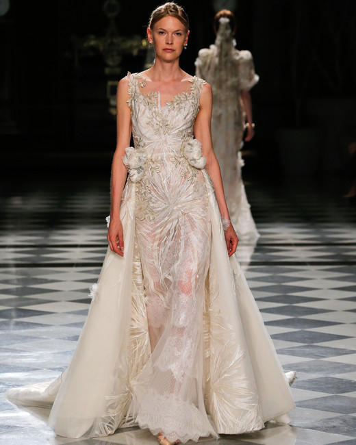 yolancris embellished a-line wedding dress spring 2018