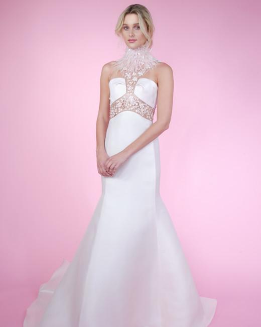 angel sanchez high neck spring 2018 wedding dress