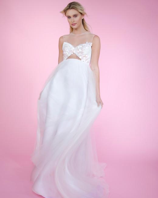 angel sanchez high neck sweetheart spring 2018 wedding dress