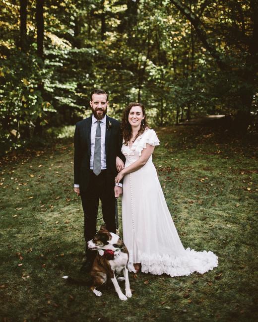 angie reed wedding couple dog