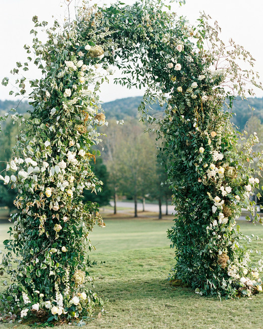 brittany alex wedding floral arch