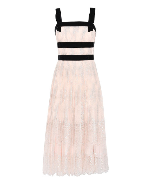 alberta ferretti lace city dress
