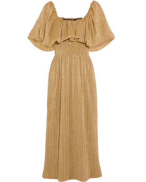 emilia wickstead metallic midi dress