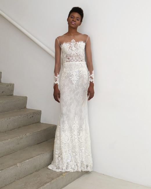 francesca miranda wedding dress spring 2019 illusion sheath
