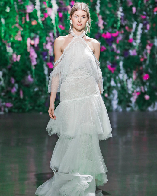 Galia Lahav Layered Off-the-Shoulder Wedding Dress Fall 2018