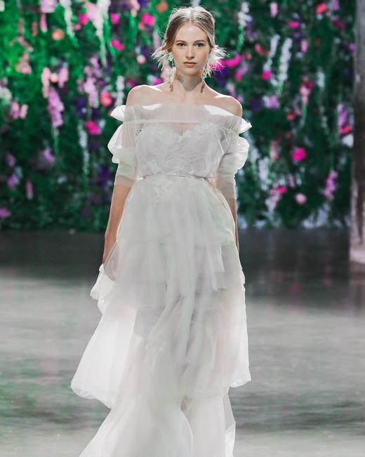 Galia Lahav Off-the-Shoulder Wedding Dress Fall 2018