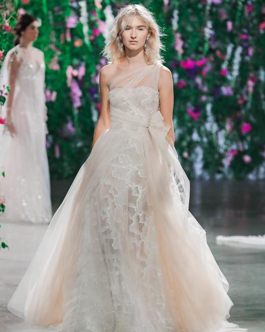 Galia Lahav One-Shoulder Wedding Dress Fall 2018