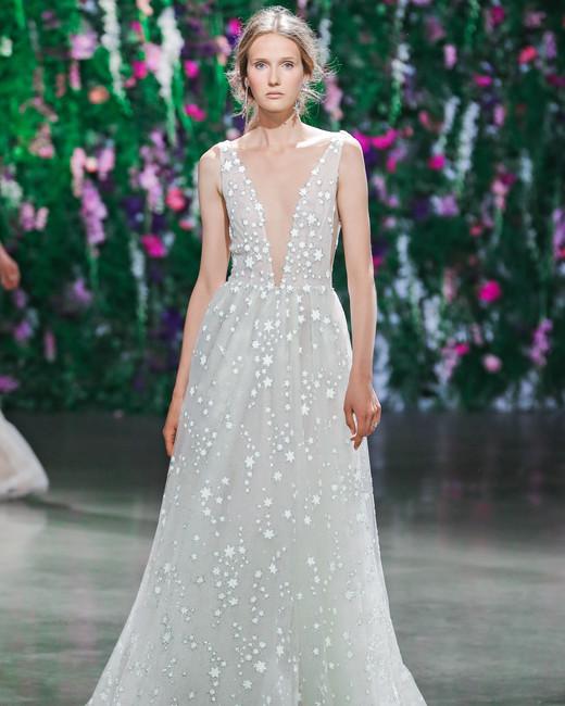 Galia Lahav V-Neck with Stars Wedding Dress Fall 2018