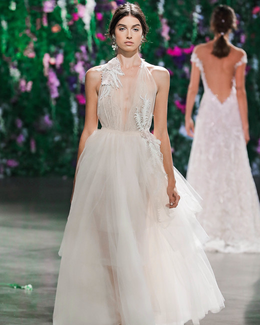 Galia Lahav Sheer Ball Gown Wedding Dress Fall 2018