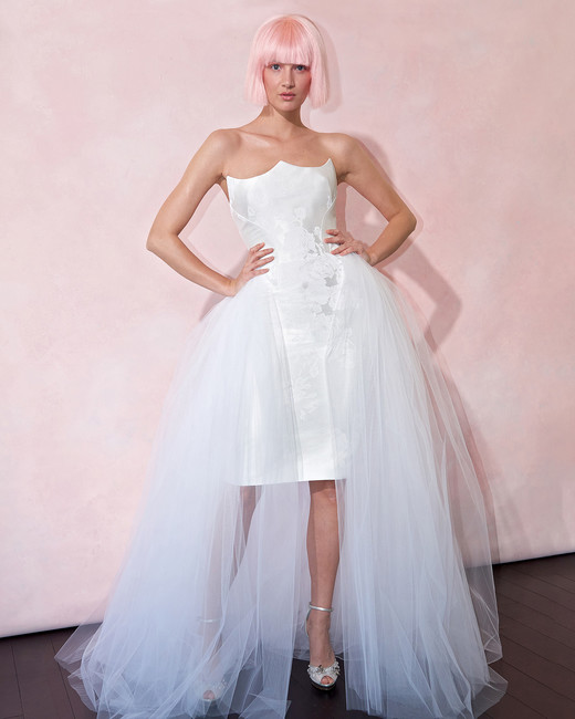 isabelle armstrong wedding dress spring 2019 asymmetrical strapless high-low
