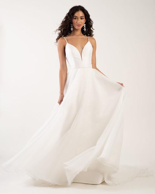 spaghetti strap deep v-neck tulle a-line wedding dress Jenny by Jenny Yoo Spring 2020