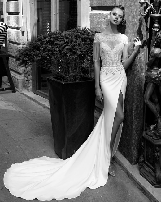 sweetheart neckline with spaghetti straps julie vino wedding dress spring2018