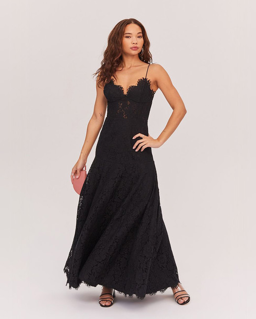 lace bridesmaid dresses fame and partners black