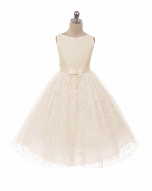 lace flower girl sleeveless dress pink princess