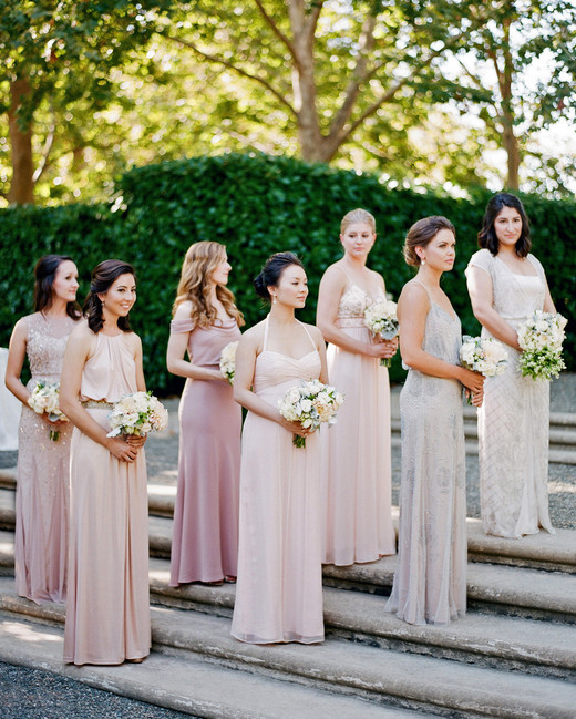 mismatched bridesmaids dresses jose villa
