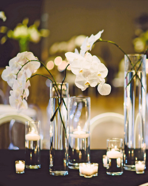modern wedding structured florals