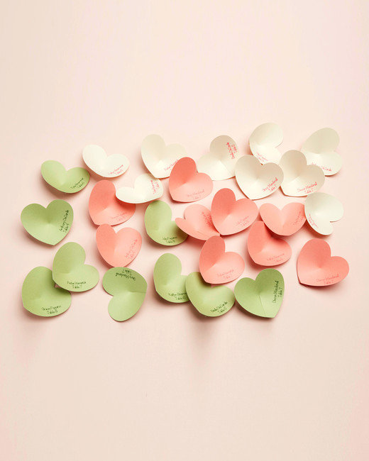 Design Space Wedding Heart Place Cards