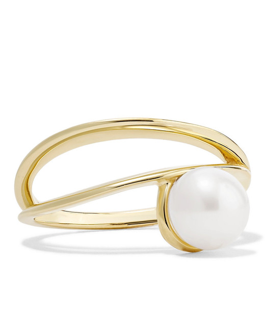 Natasha Schweitzer 9-Karat Gold Pearl Ring