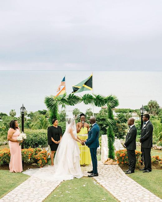 porsha terry wedding jamaica ceremony bride groom