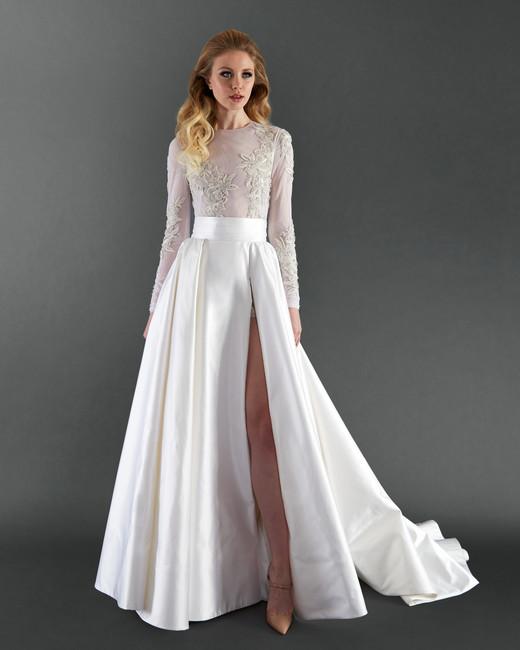 randi rahm long sleeve wedding dress spring 2018