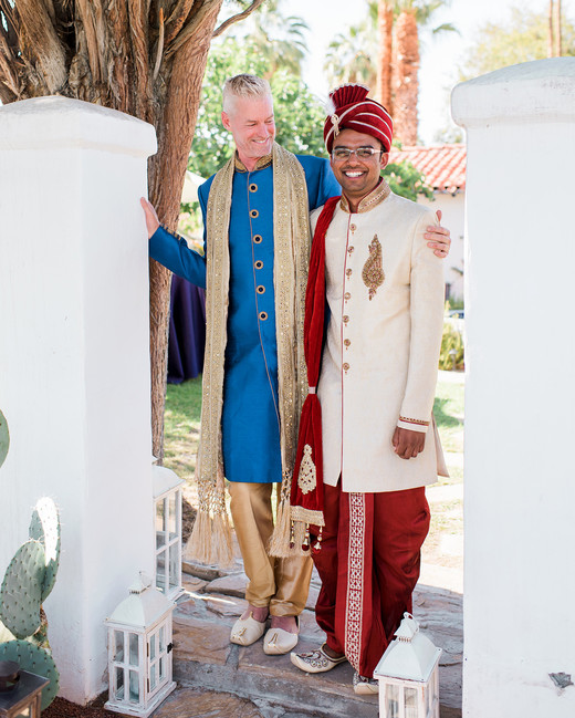 grooms wearing traditional attire