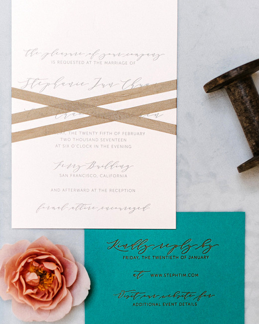 stephanie tim wedding invitation