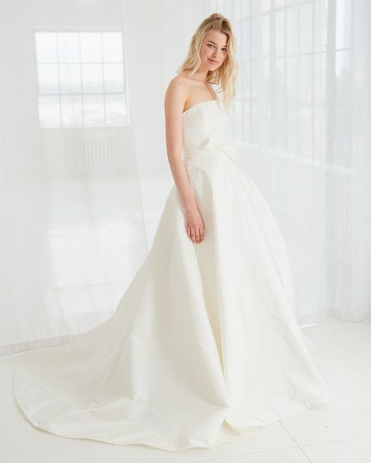 amsale strapless ball gown wedding dress spring 2018