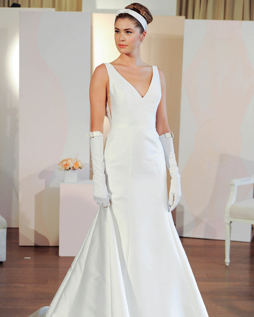 anne barge v-neck trumpet wedding dress spring 2018