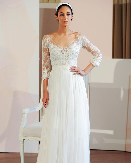 anne barge lace three-quarter length sleeves wedding dress spring 2018