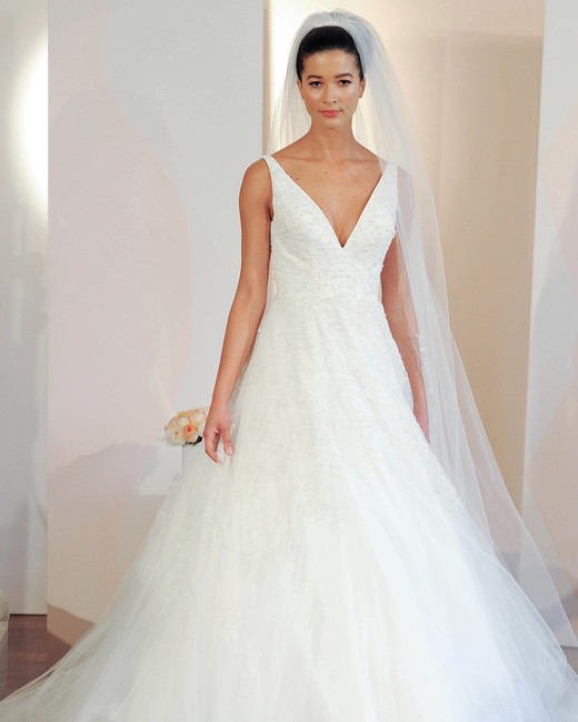 anne barge v-neck ball gown wedding dress spring 2018