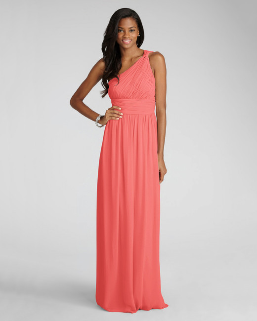 coral bridesmaid dress donna morgan rachel