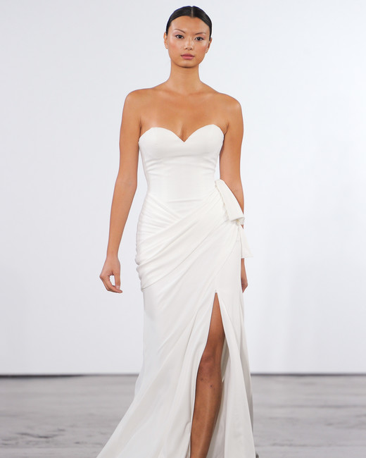Dennis basso for kleinfeld fall 2018 wedding dress collection dennis basso for kleinfeld strapless sheath wedding dress junglespirit Images