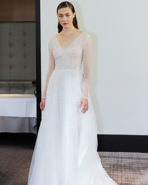 gracy accad v-neck wedding dress fall 2018