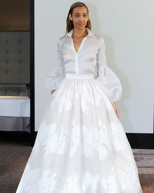 gracy accad long sleeves wedding dress fall 2018