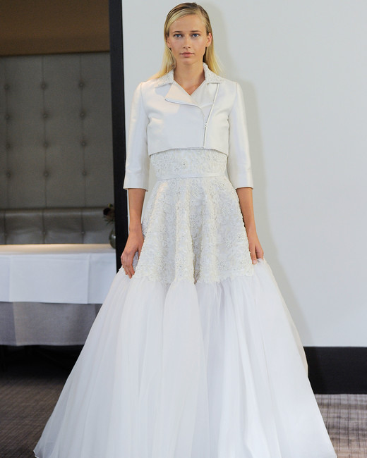 gracy accad a-line with jacket wedding dress fall 2018