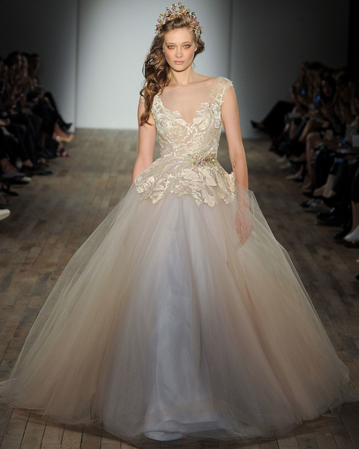Lazaro V Neck Wedding Dress Spring 2018