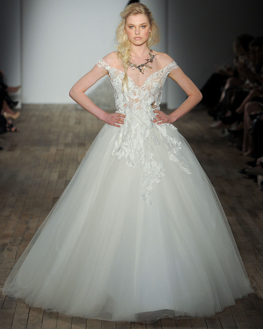 lazaro off-shoulder wedding dress spring 2018