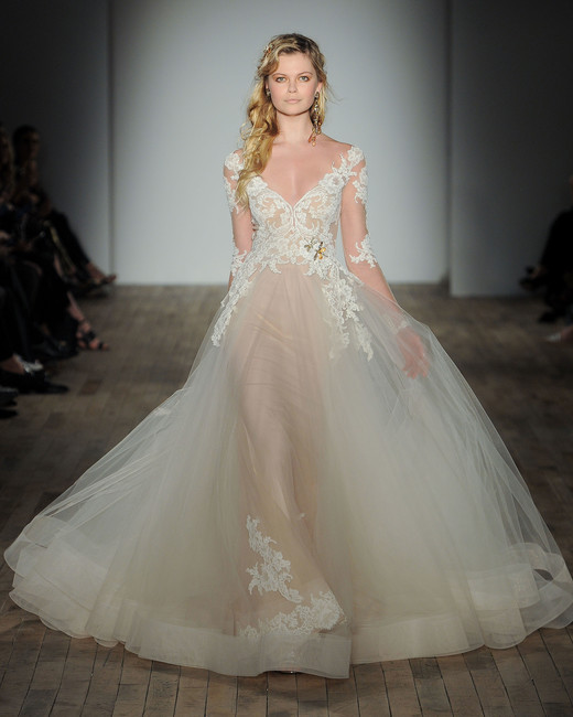 lazaro sheer wedding dress spring 2018
