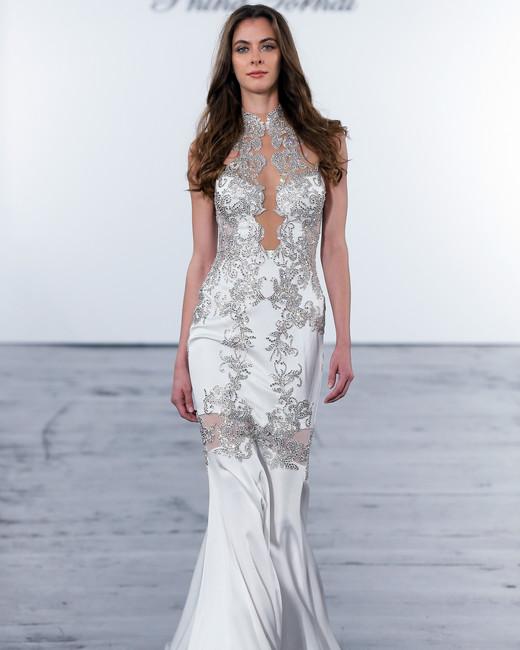 pnina tornai fall 2018 high neck trumpet wedding dress