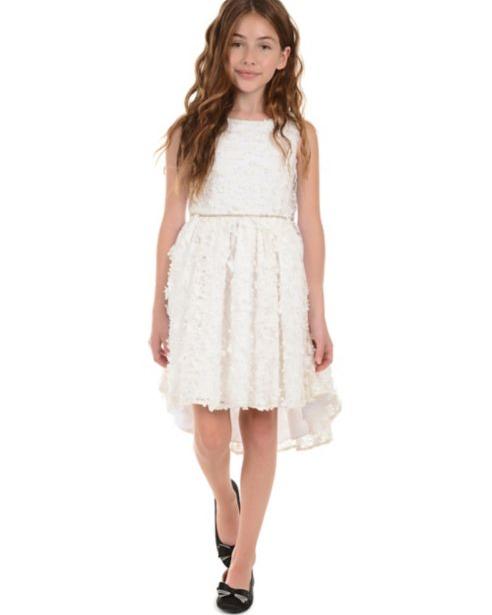 3D Flower High-Low Dress